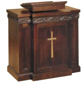 1450 Wood Pulpit for Churches from Woerner