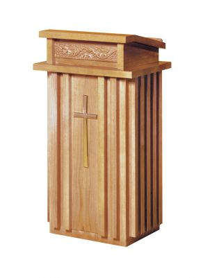 Woerner 2020 Oak Finish Wood Lectern Church Furniture