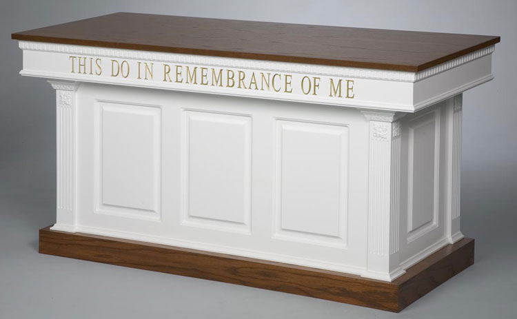 Two-Toned Closed Communion Table