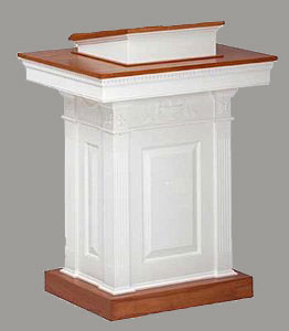 Enclosed Wooden Pulpit with Locking Storage