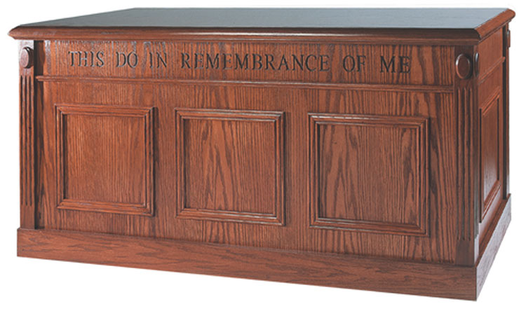 "32"" Communion Table from Imperial Woodworks"