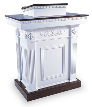 Elegant White Pulpit from Imperial Woodworks