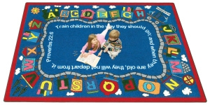 Bible Train - 1493 Area Rug