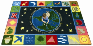 "Church Nursery Rug - ""In the Beginning"""