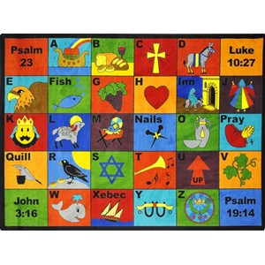 Bible Phonics Faith Based Area Rug from Joy Carpets