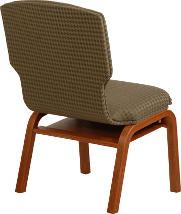 Fabric Backed Meridian Church Worship Chair