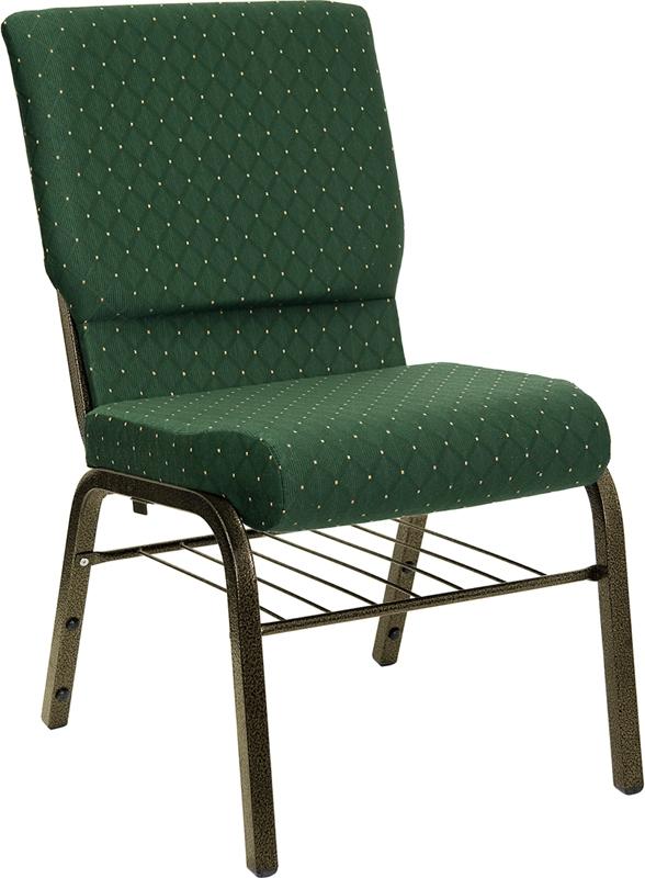 Green Hercules Chair w/ Book Rack (xu-ch-60096-gn-bas-gg)