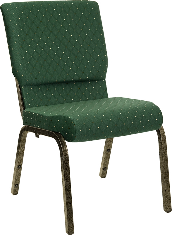 "Hercules 18.5"" Green Church Chair"