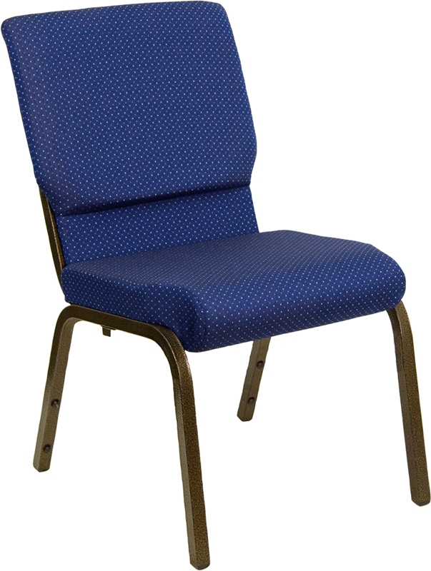 Hercules Church Chairs - Navy Blue Patterned