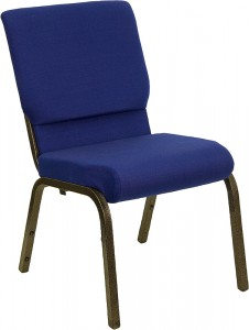 "Hercules 18.5"" Navy Blue Church Chair"