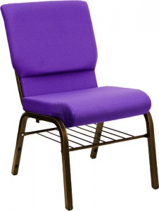 Purple Church Chair w/ Basket