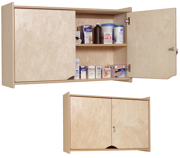 Steffy Wood Products Locking Wall Cabinet