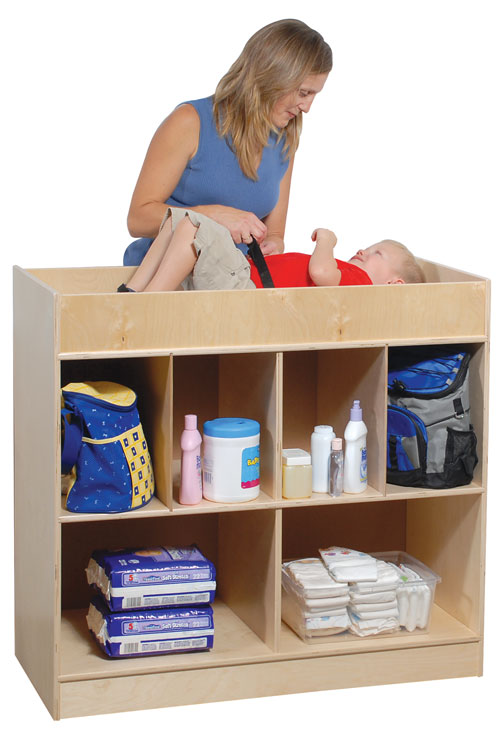 Church Changing Table with Storage