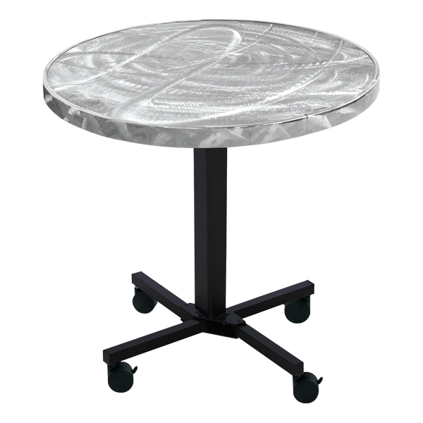 The Linenless Swirl-Top Cafe Table for Churches