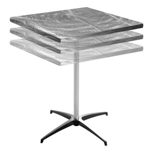 Southern Aluminum Swirl Top Table (Square)