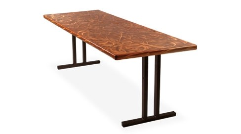 Southern Aluminum Copper-Color Banquet Table