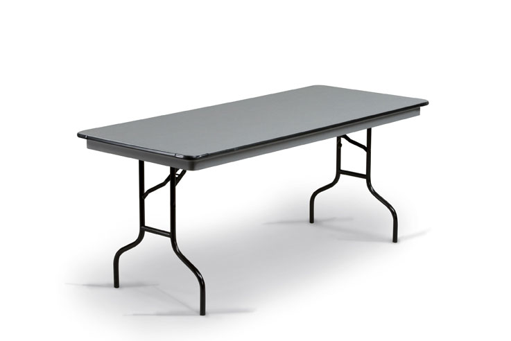 "30"" X 72"" Abs Plastic Folding Table (630-NLW)"