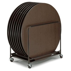 Heavy Duty Black Metal Finish Round Table Caddy from Midwest
