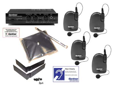 Gentner Assistive Listening Systems 930 402 001 R 4 Pack