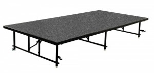 "48"" W x 96"" L x 24"" H Carpeted Stage Section"