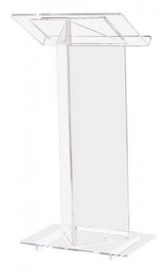 Clear Acrylic Lectern for Churches (ELS-410)