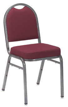 NPSC 9200 Dome Upholstered Stacking Chair in Burgundy