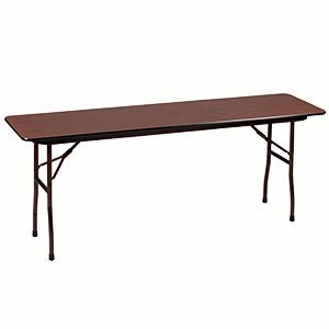 Correll CF-1872 Folding Table (Melamine w/ Walnut Top)