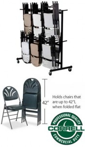 Holds up to 84 Chairs