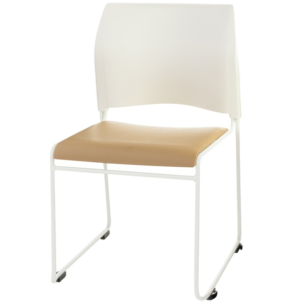 8700 Chair in Beige and White