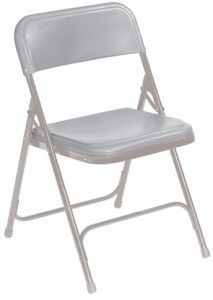 National Public Seating 802 Folding Chair Grey-on-Grey