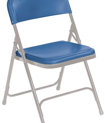 NPS 805 Blue-on-Grey Folding Chair