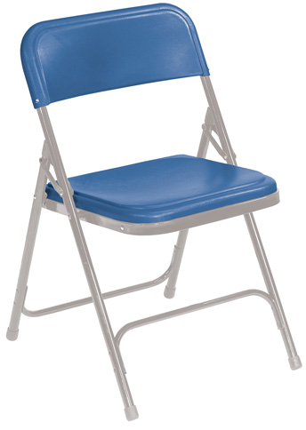 NPS 805 Blue-on-Grey Folding Chair