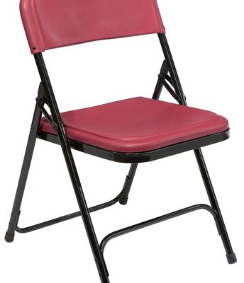 NPS 818 Folding Chair in Black-Burgundy